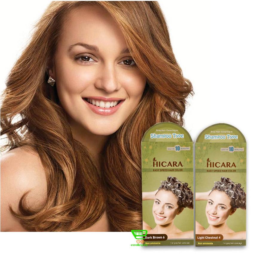 Thuốc nhuộm tóc dạng gội Hicara