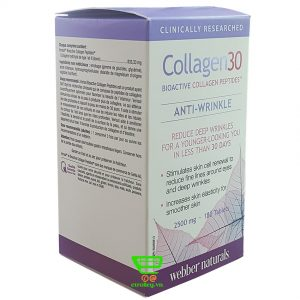 Collagen30 anti-wrinkle 2500g 180 viên
